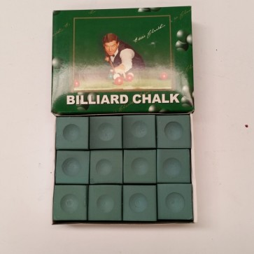 Eddie Charlton Pool Snooker Billiards CUE CHALK - 12 Piece - GREEN