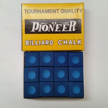 Pioneer Pool Snooker Billiards CUE CHALK - 12 Pieces - BLUE