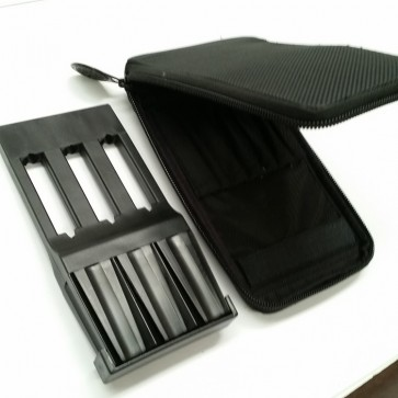 Darts Case Zip COVER & Plastic Dart HOLDER - Black