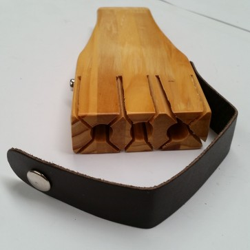 Wooden DARTS CASE with Click Stud Vinyl STRAP