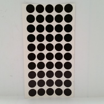 TABLE SPOTS - BLACK 12mm (50 PCS) SELF ADHESIVE