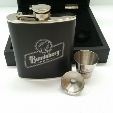 Bundaberg Rum Hip Flask Gift Pack
