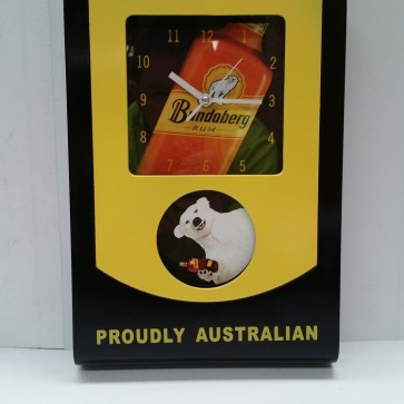 Bundaberg Rum Rectangle Pool Room WALL CLOCK