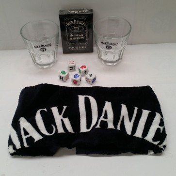 Poker Pack Set with Glasses - JACK DANIELS