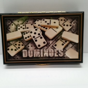 DOMINOES SET in WOODEN CASE