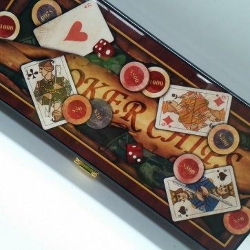 100 PIECE POKER GAME SET in WOODEN CASE