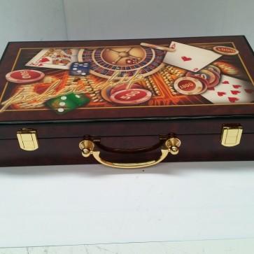 300 PIECE POKER GAME SET in WOODEN CASE