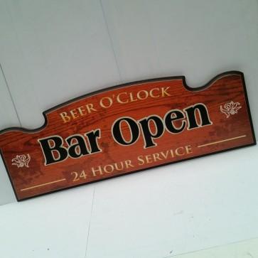 Bar Open 3-D Wall Sign