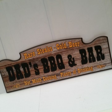 Dads BBQ 3-D Wall Sign