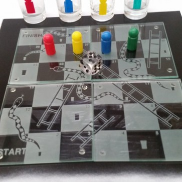 Snakes and Ladders - Glass Shot Drinking Game