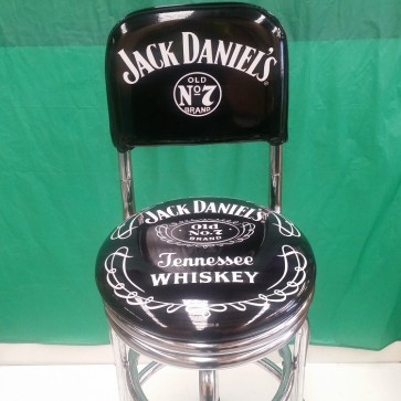Double Ring BAR STOOL High Back - JACK DANIELS Great for pool room man cave