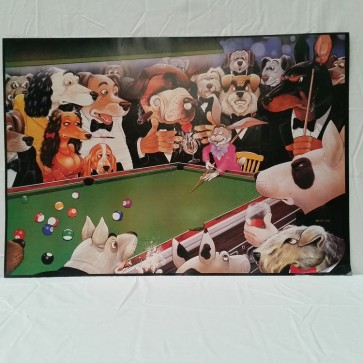Animals Around Pool Table POSTER