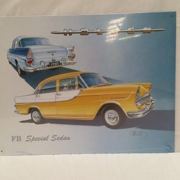 Australian Cars & Transport 1960 FB Holden Tin Sign