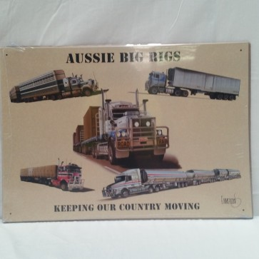 Australian Cars & Transport Big Rigs Trucks Tin Sign