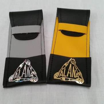 Leatherette DARTS POUCH - Grey or Yellow