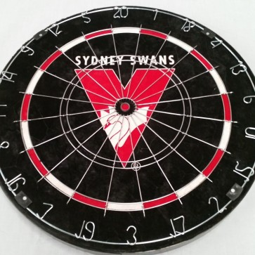 AFL Licensed DARTBOARD (OLD) - Sydney SWANS