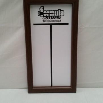 Framed WHITEBOARD Dart Scoreboard