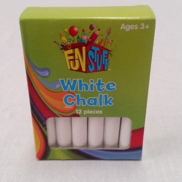 CHALK Sticks - 12 Pieces - WHITE