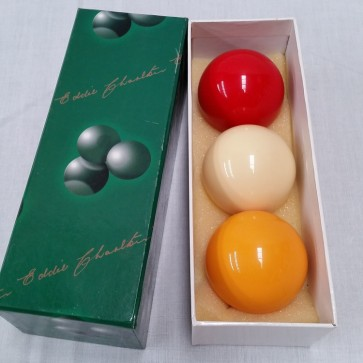 "Eddie Charlton BILLIARD BALL Set 2 1/16"" - TRI COLOUR"