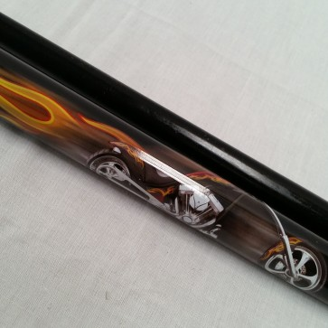"EC GRAPHITE 2 Pce Pool Snooker Billiards 57"" CUE - Motorcycle"