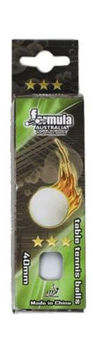 3 Star White Table Tennis Balls 3 Pack