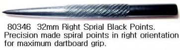 32mm RIGHT SPIRAL BLACK POINTS (set of 3pcs)