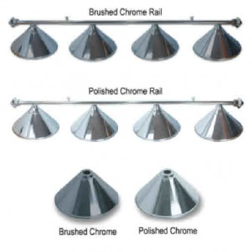 Metal CHROME Pool Snooker Billiards Table LIGHT - 4 x Light Hats