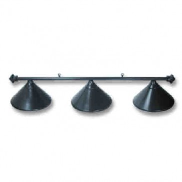 Metal Pool Snooker Billiards Table LIGHT - 3 x Hats - BLACK