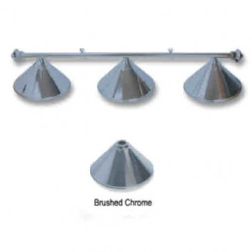 Metal Brushed CHROME Pool Snooker Billiards Table LIGHT - 3 x Light Hats