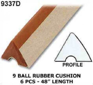 9 Ball Table CUSHION RUBBER - 6 Pce - 8' Table
