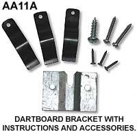 Dartboard BRACKET with Instructions and Accessories
