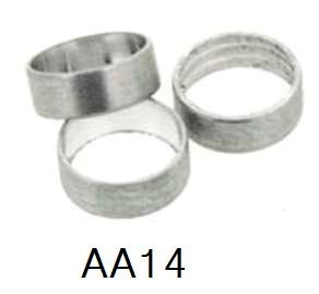 Slot Lock Ring Set of 3pcs - Silver