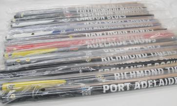 "AFL Licensed Pool Snooker Billiards CUE - 2Pce 57"" $99 Each - TEAM COLOUR"