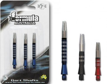Alloy Ringed Coloured Gyro Short Dart Shaft Set of 3