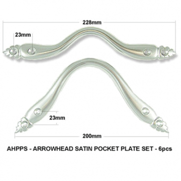 POCKET PLATE 1140 ARROW HEAD Set 6 Pce - SATIN