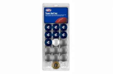 AFL Licensed POOL BALLS - 16 Pack - Carlton BLUES