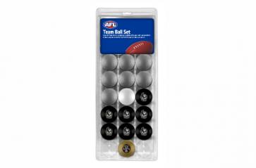 AFL Licensed POOL BALLS - 16 Pack - Collingwood MAGPIES
