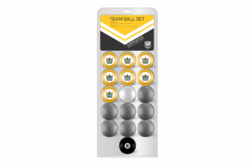 NRL Licensed POOL BALLS - 16 Pack - Gold Coast TITANS