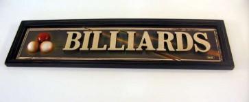 BILLIARD ROOM Sign Three Dimensional