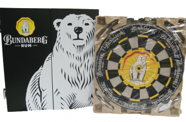 Bundaberg Rum Bundy Bear Collectors DARTBOARD with CABINET - NEW