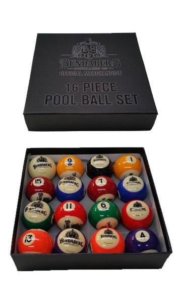 "Official Licensed KELLY POOL BALL Set 2"" - Bundaberg Rum"