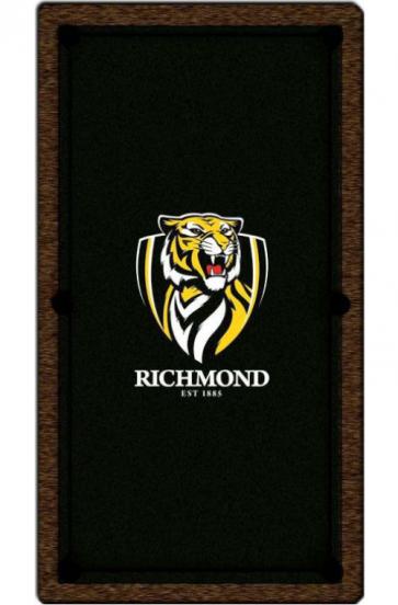 AFL Licensed Pool Snooker Billiards CLOTH 8 Foot - Richmond TIGERS
