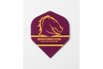 NRL Licensed DART FLIGHTS x 3 - Brisbane BRONCOS