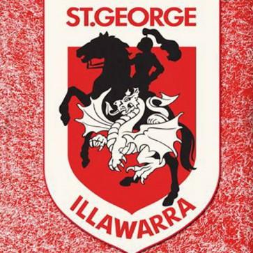 NRL Licensed Pool Snooker Billiards CLOTH 9 Foot - St George Illawarra DRAGONS