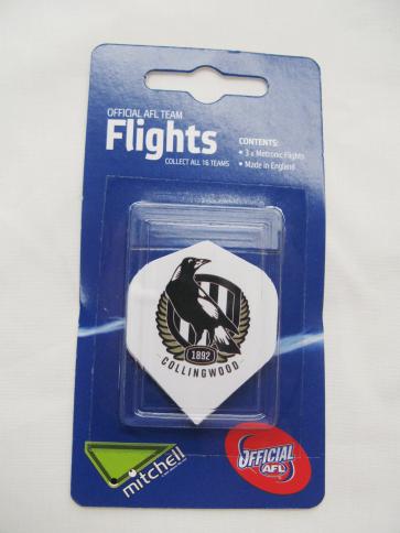 AFL Licensed DART FLIGHTS x 3 - Collingwood MAGPIES
