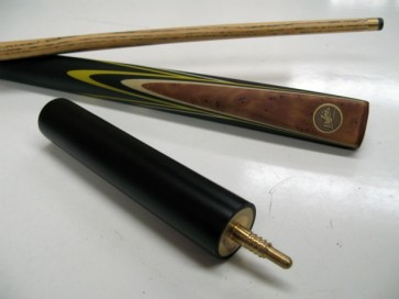 "Dufferin Ash 3/4 Pool Snooker Billiards 57"" CUE 3 Pce - Yellow Flame"
