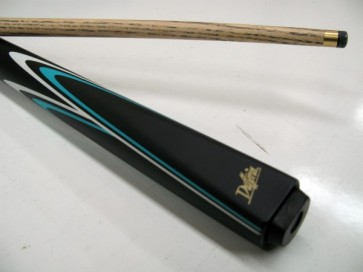 "Dufferin Ash 2 Pce Pool Snooker Billiards 57"" CUE - Turquoise and White Flame"
