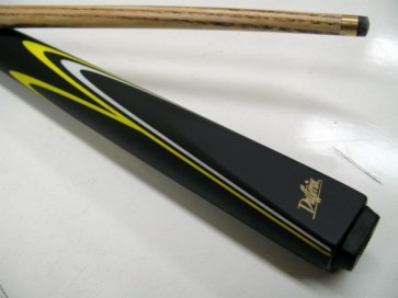 "Dufferin Ash 2 Pce Pool Snooker Billiards 57"" CUE - Yellow and White Flame"