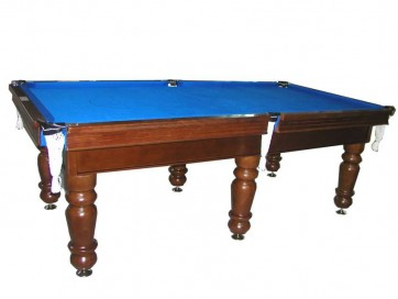 Charlton Professional Slate Pool Table Mahogany 7F Blue