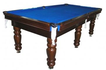 Charlton Professional Slate Pool Table Walnut 7F Blue